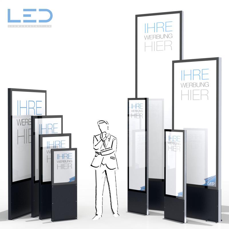 DIN Formate, A0, LED Stele, Leuchtreklame, Leuchtwerbung, LED-Pylonen, LED-Stelen, Werbesäule, Firmenbeschriftung, Signalisation