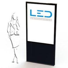 A0-Pylone Schwarz, Leuchtreklame, Leuchtwerbung, LED-Pylonen, LED-Stelen, Werbesäule, Firmenbeschriftung, Signalisation,Enseignes