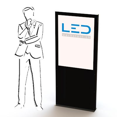 LED Werbepylone, Firmenbeschriftung, Gewerbe Stele, Pylone, LED Leuchtreklame, Leuchtwerbung, Leuchtschild