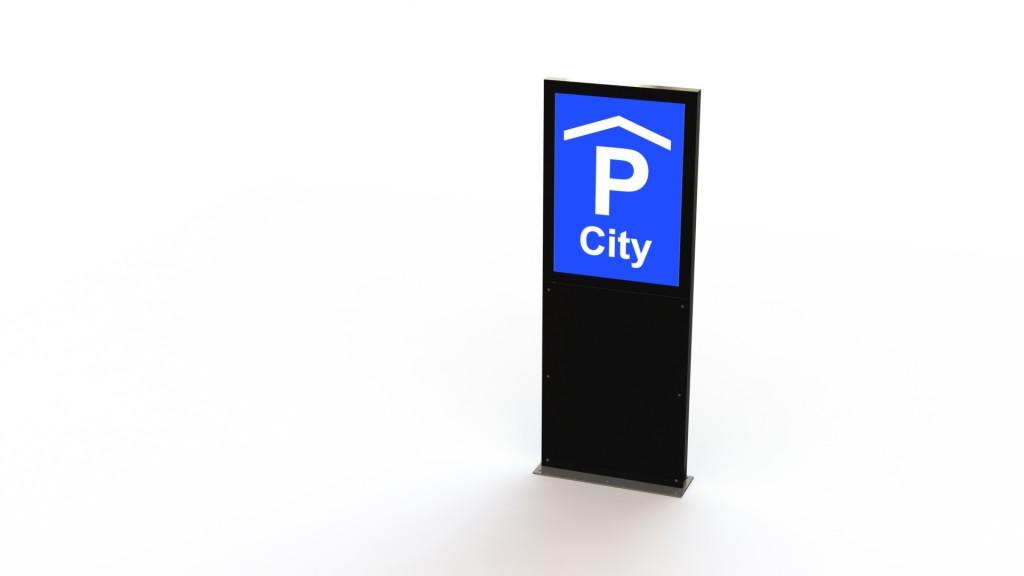 A2-LED Stele Parking, Slimline A2, Signalisation & Plakatwerbung, Leuchtreklame