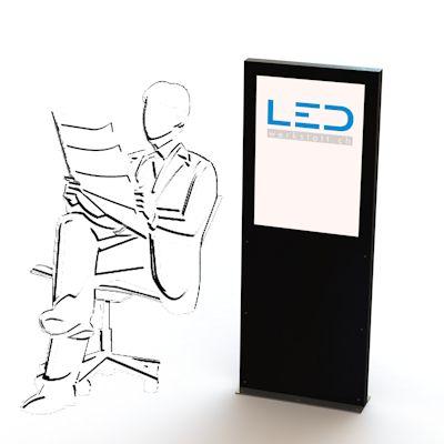 A2 LED Stele Leuchtreklame, LED-Pylonen, LED-Stelen, panneaux lumineux, enseignes au néon, pylônes, Billboard