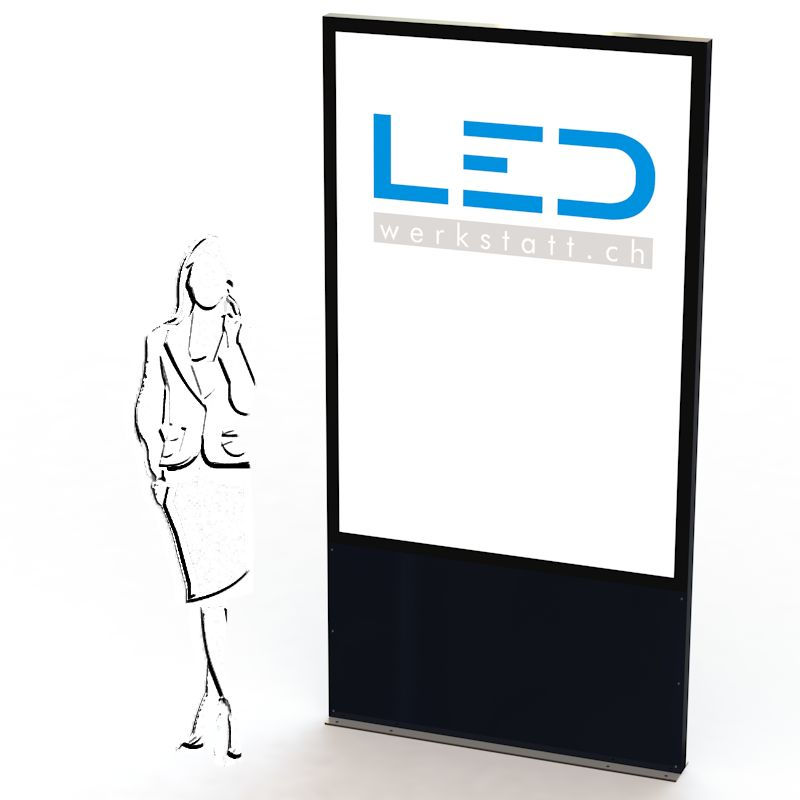 F200-LED-Leuchtreklame, Panneau, Enseigne, Totem publicitaire, Leuchtwerbung, LED-Pylonen, LED-Stelen, Werbesäule, Firmenbeschriftung, Signalisation, Plakatwerbung