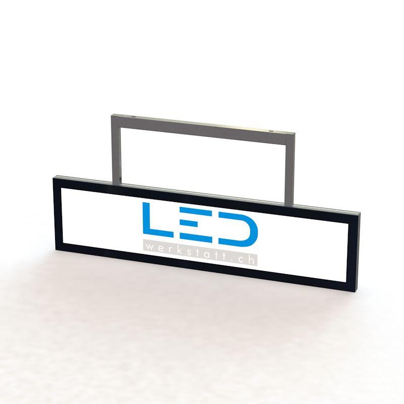 SA-15012 LED Abhängeschild RAL9005 LED Leuchtrekalme, Leuchtkasten