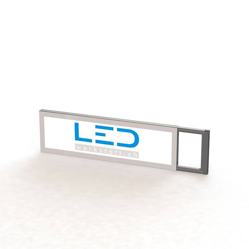 LED techschild 25 x 100 cm, Panneaux Publicitaires, insegne pubblicitarie, Advertising signs