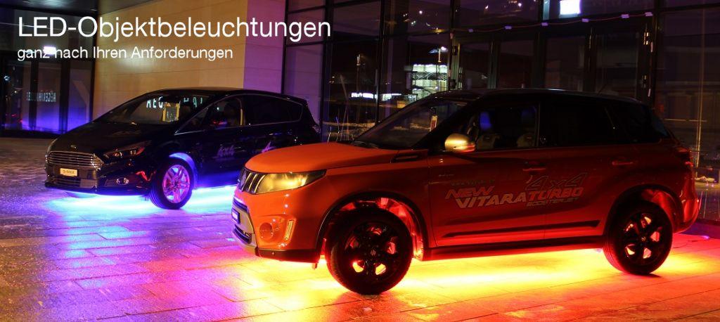 LED Objektbeleuchtung, Spezialleuchten, Autobeleuchtung, Aegeritalgarage, Unterägeri