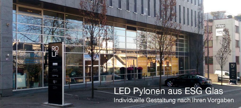 LED Werkstatt, Leuchtpylonen, Leuchtreklame, Leuchtwerbung, Rolf Schubiger, St. Gallen