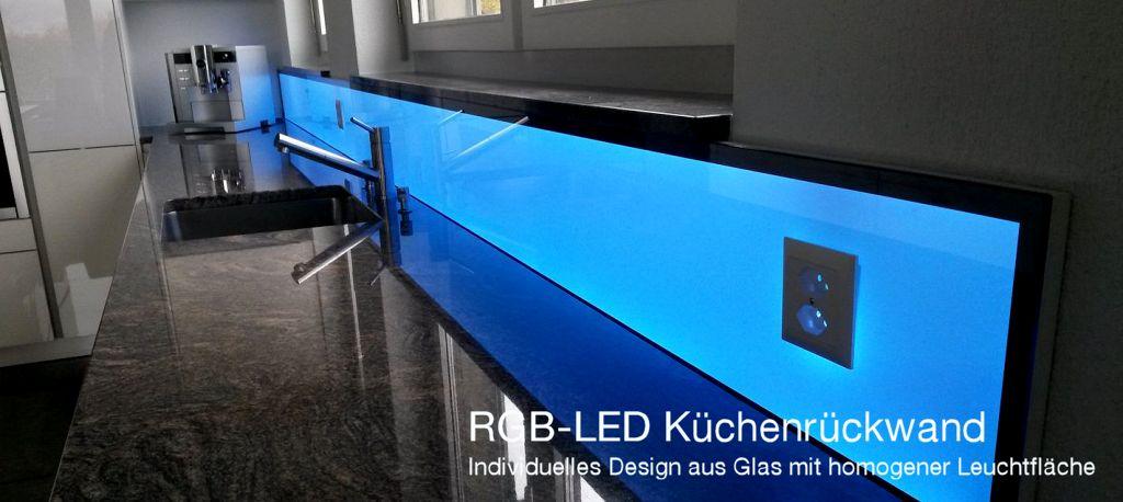 LED Küchenwand, Leuchtwand, Küchenrückwand, Küchenbeleuchtung, RGB LED, Flachleuchte