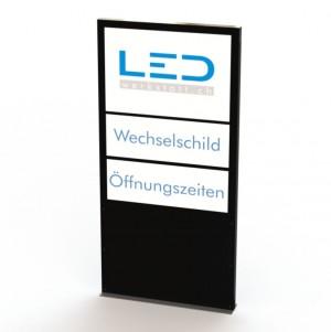 LED Pylone A0 mit Wechselschild, Leuchtreklame, LED Stele mit Einschub