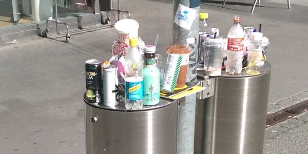 Abfalleimer Innenstadt, Recycling im öffentlichen Raum