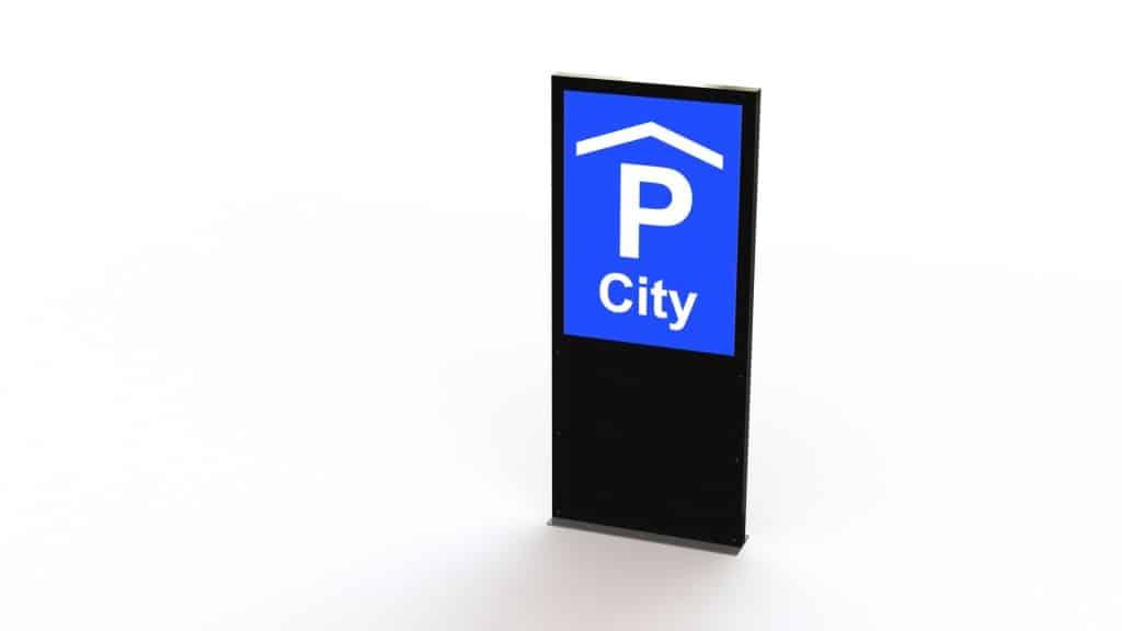 Parkhaus Pylone, Parkhaussäule, Signaletik, Beschriftung
