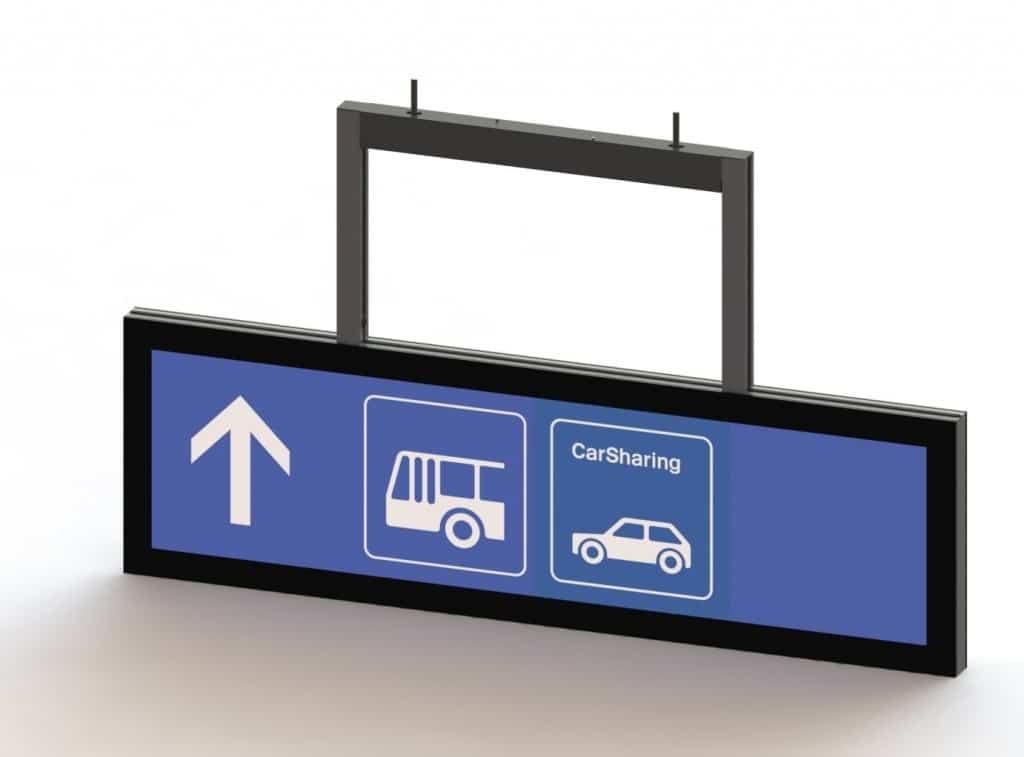 Abhängeschild, Pikto Schild für den öffentlichen Verkehr
