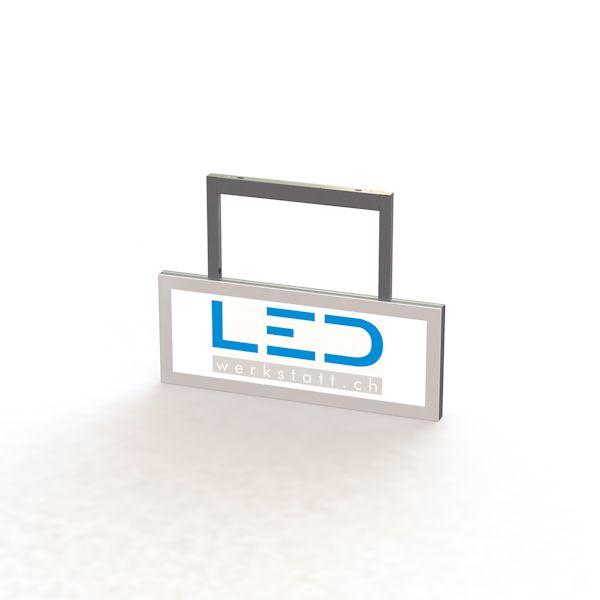 SA-15039 0250 x 750 Abhängeschild RAL9003 LED Leuchtreklame, Leuchtwerbung