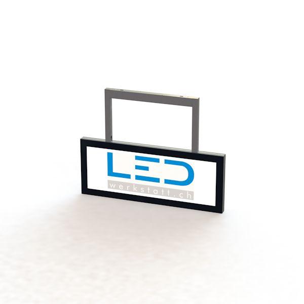 SA-15039 250 x 750 Abhängeschild RAL9005 LED Leuchtreklame, Leuchtwerbung