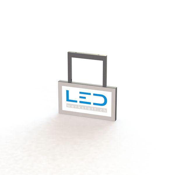 LED Leuchtschild 25 x 50 cm RAL9003, Leuchtreklame Abhängeschild