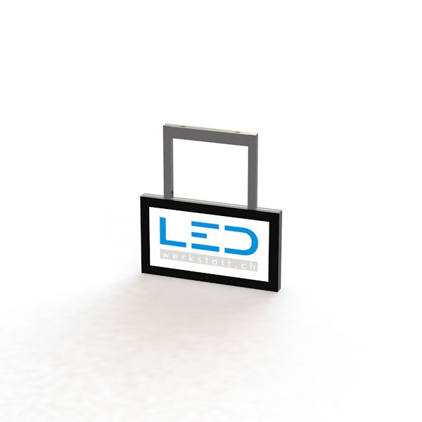 SA-15041-0 LED Leuchtschild 25 x 50 cm RAL9005