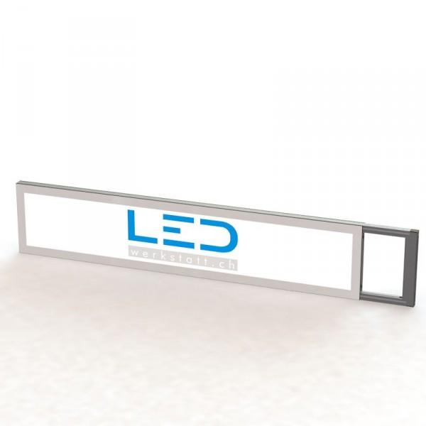 Leuchtreklame SlimMount, Stechschild 25 x 150 cm, Panneaux Publicitaires