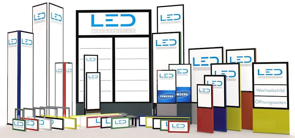 LED Leuchtreklame Stadtmobiliar, Stele, Pylone, Stechschilder, Monitorstele, Digital Signage, Wandschilder