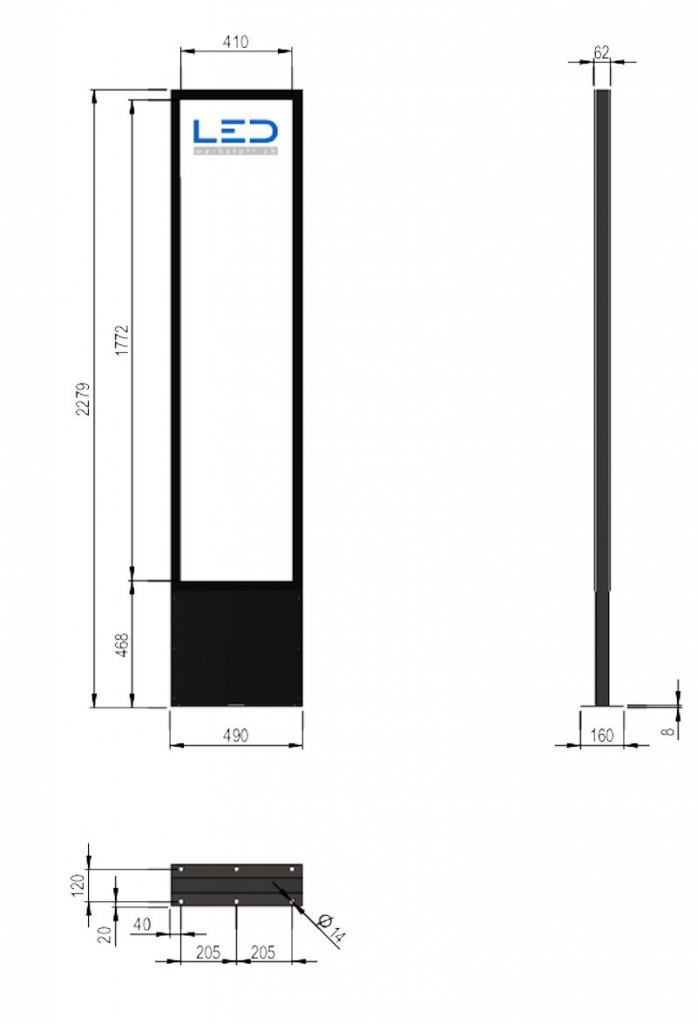 PY-15046-0 Pylone 3xA2 Zeichnung