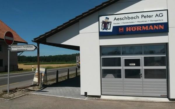 Leuchtkasten 3x1m Herzogenbuchsee für Peter Aeschbach AG, Wandleuchtschild, Leuchtreklame, Leuchtwerbung