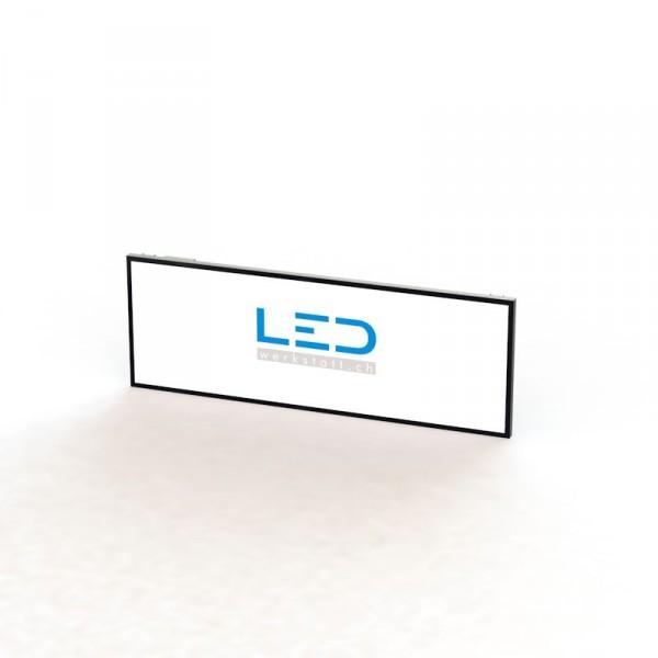 Leuchtkasten Herzogenbuchsee, LED Leuchttafel 100x300cm RAL9005, Panneaux Publicitaires, insegne pubblicitarie, Advertising signs