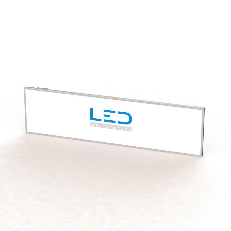 LED Leuchttafel 100x400cm RAL9003, LED Leuchtreklame, Panneaux Publicitaires, insegne pubblicitarie, Advertising signs