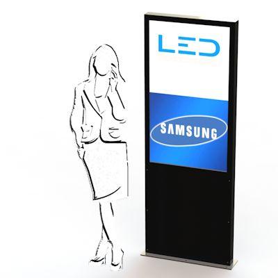 PY-15073_46Zoll Display Monitorstele, Digitalsignage 46', Monitor Pylone, Panneau publicitaire, Totem, Leuchtreklame,Präsentationen