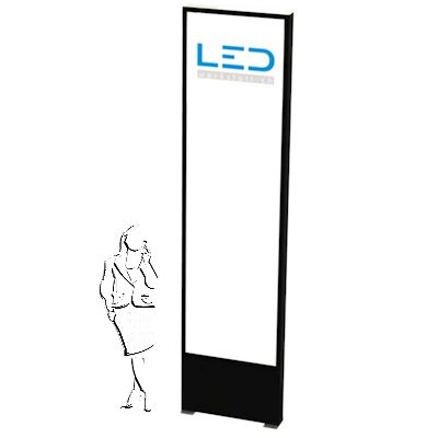 Werbestelen mit LED Slimline 3 x 1m für Ihre Firmenbeschriftung & Logo, Panneau publicitaire