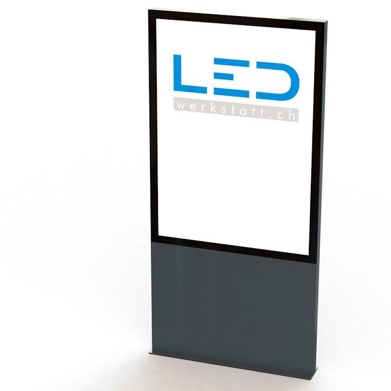 LED Stele A0 RAL7016, Panneau publicitaire, Totem publicitaire, Leuchtreklame, Leuchtwerbung, LED-Pylonen,Firmenbeschriftung, Signalisation, Enseignes Pubicitaires