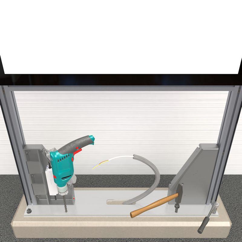 Montage Stele, weiter Löcher Bohren und Festschrauben, Schritt 4