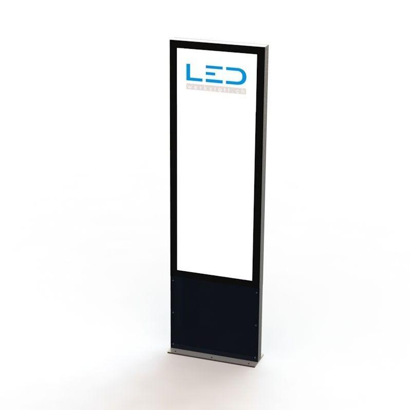 Panneau publicitaire, Totem publicitaire, Leuchtreklame, Leuchtwerbung, LED-Pylonen, LED-Stelen, Werbesäule, Firmenbesriftung, Signalisation,