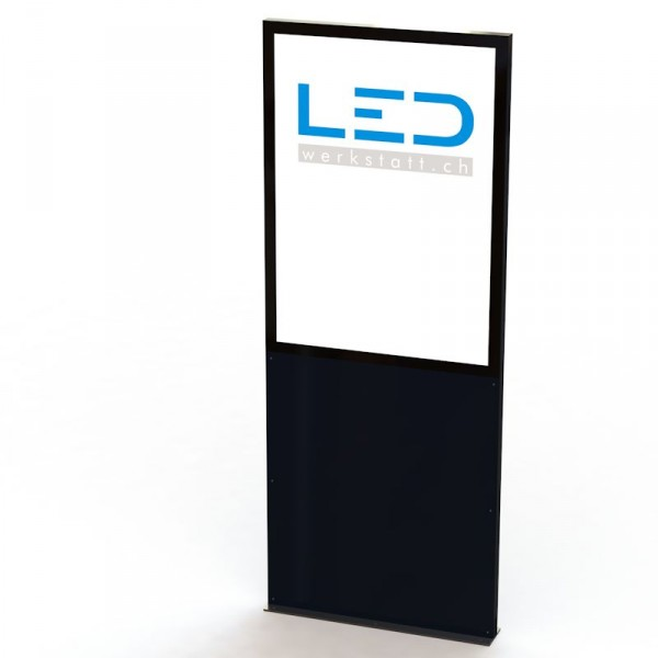 PY-15086-0 A0 LED Stele hoch Panneau publicitaire, Totem publicitaire, Leuchtreklame, Leuchtwerbung, LED-Pylonen, LED-Stelen, für Gewerbeparks, FirmenbesriftungPY-15086-Pylone-RAL9005