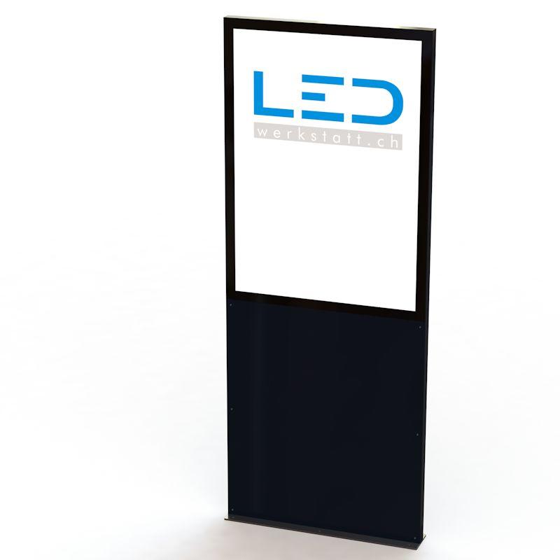 PY-15086-0 Stele RAL9005 Leuchtreklame, Leuchtwerbung, LED-Pylonen, LED-Stelen, Firmenbeschriftung