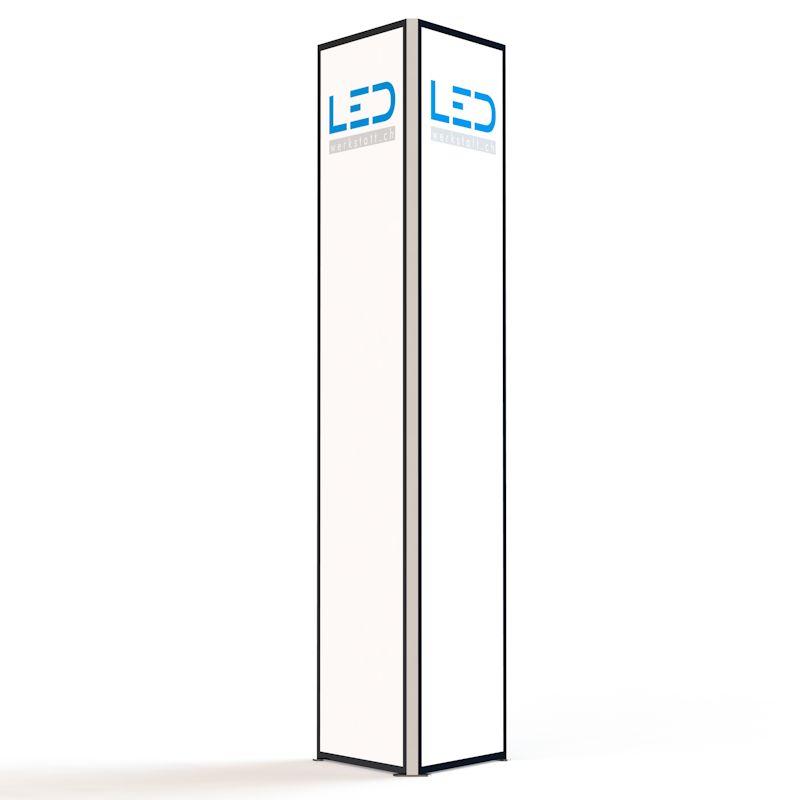 Werbeturm RAL9005 Stelen und Pylonen, Paneaux Publicitaires, Totems