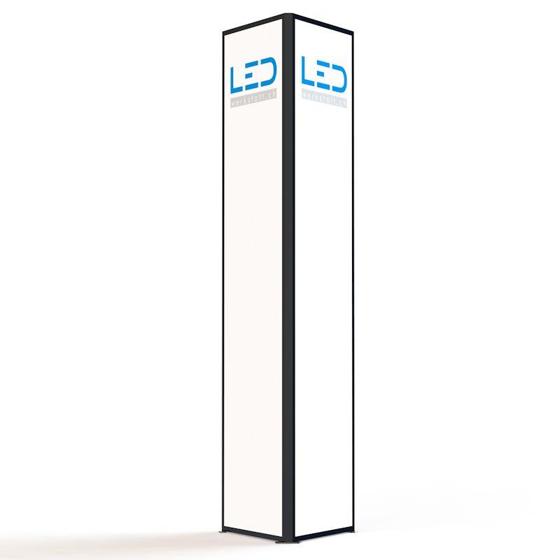 LED-Werbeturm RAL9005 Stele, LED Pylone, Leuchtreklame, Leuchtwerbung, Werbeturm, Enseigne publicitaire, LED Leuchtsäule