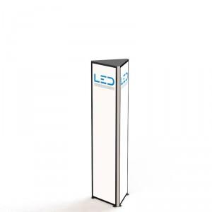 LED Werbeturm RAL9003 Dreiseitig mit LED Beleuchtung, Advertising Tower, Stelen und Pylonen, LED Leuchtreklame, Leuchtwerbung