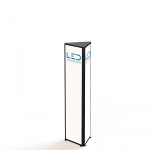 LED Werbeturm RAL9005 Dreiseitig mit LED Beleuchtung, Advertising Tower, Stelen und Pylonen, LED Leuchtreklame, Leuchtwerbung