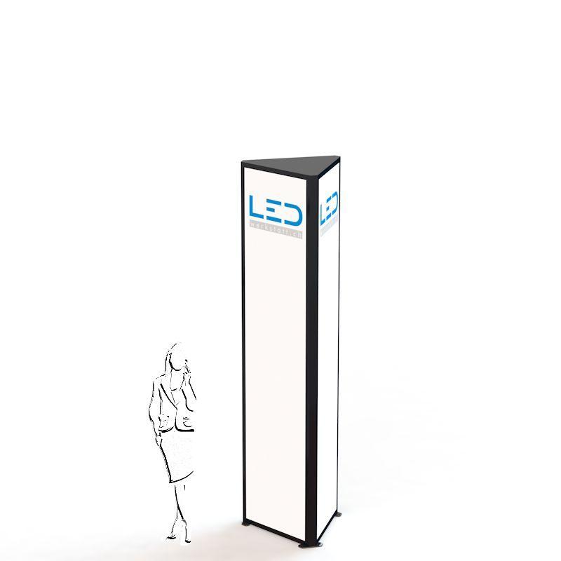 PY-15089 Werbeturm Dreiseitig mit LED Beleuchtung, Advertising Tower, Stelen und Pylonen, LED Leuchtreklame, Leuchtwerbung