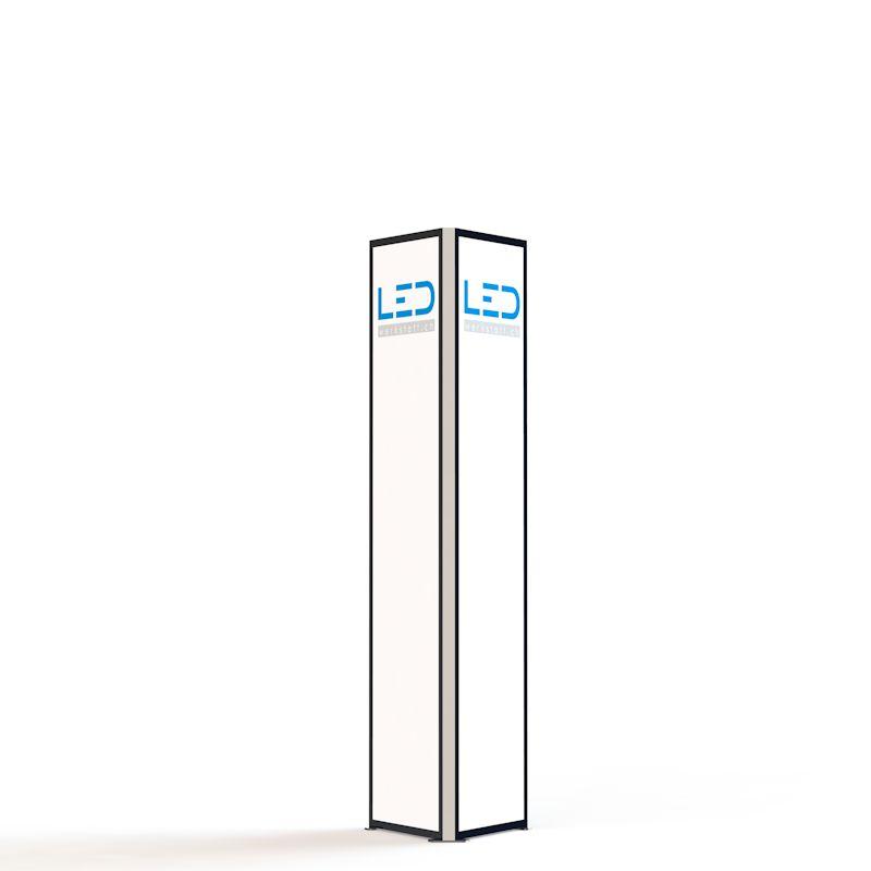 Advertising Tower RAL9003, tour de publicité, Stelen, Pylonen, Paneaux Publicitaires, Totems, Werbeturm Dreiseitig mit LED Beleuchtet, torre di pubblicità