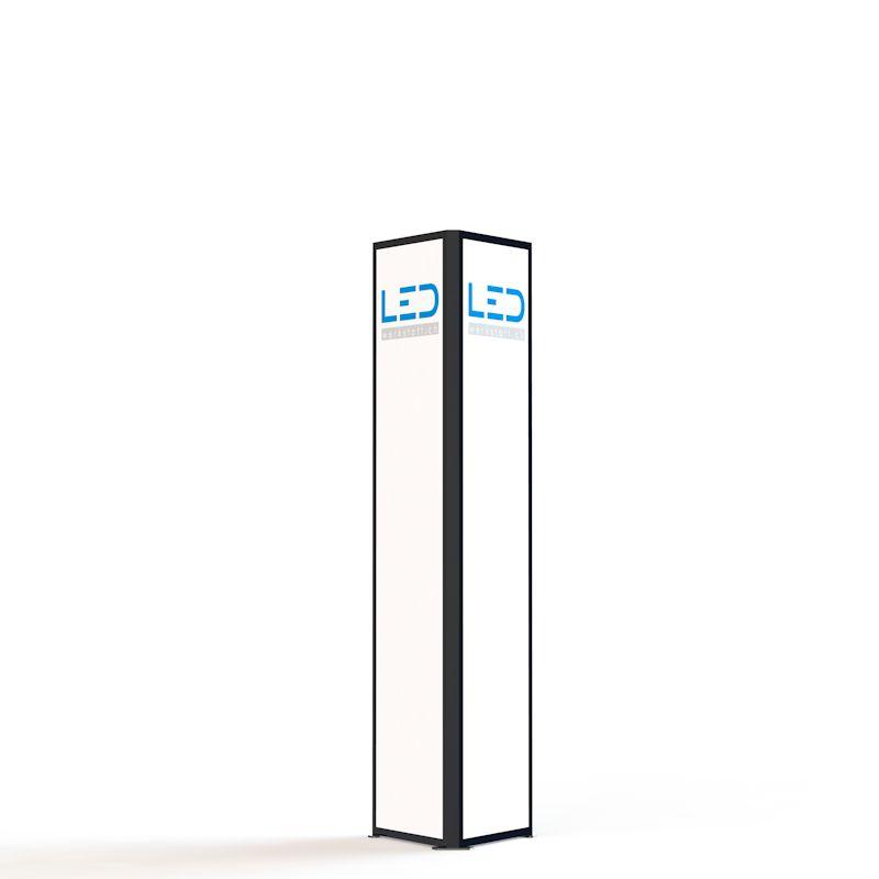 Advertising Tower RAL9005, tour de publicité, Stelen, Pylonen, Paneaux Publicitaires, Totems, Werbeturm Dreiseitig mit LED Beleuchtet, torre di pubblicità