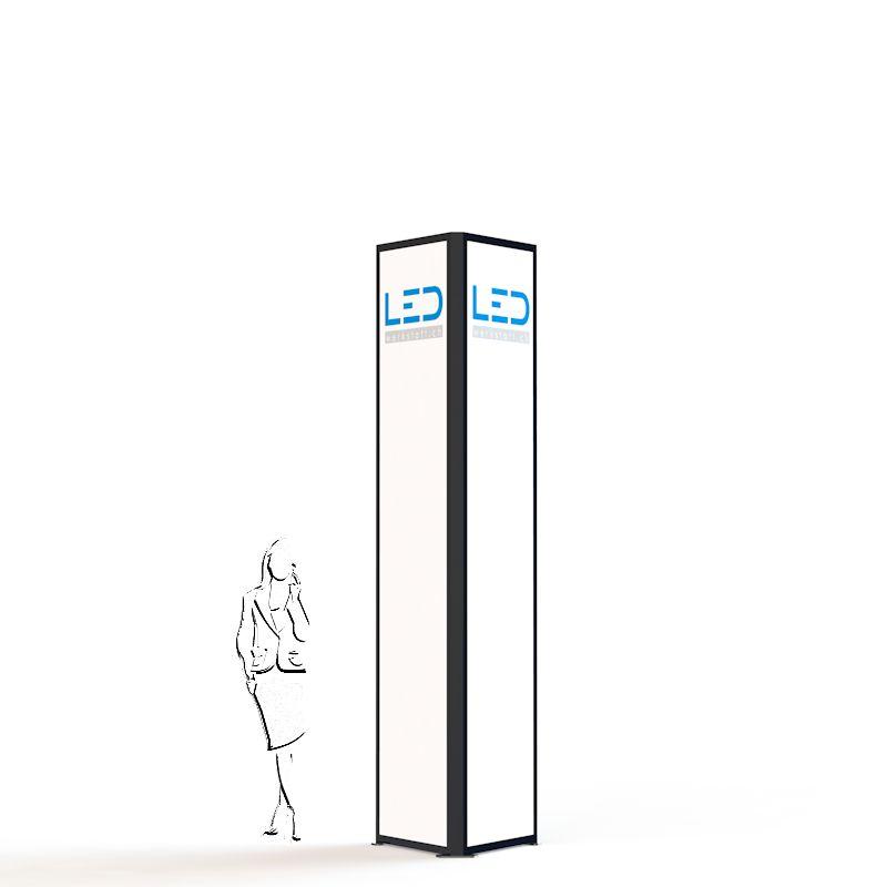 Advertising Tower, tour de publicité, Stelen, Pylonen, Paneaux Publicitaires, Totems, Werbeturm Dreiseitig mit LED Beleuchtet, torre di pubblicità