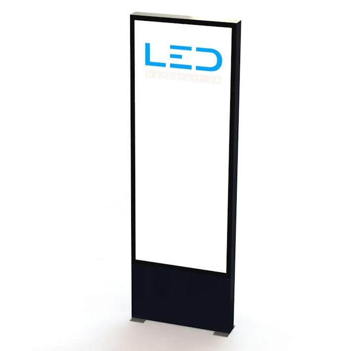 LED Leuchtpylon, Panneau publicitaire, Totem publicitaire, Leuchtreklame, Leuchtwerbung, LED-Pylonen, LED-Stelen, Werbesäule, Firmenbesriftung