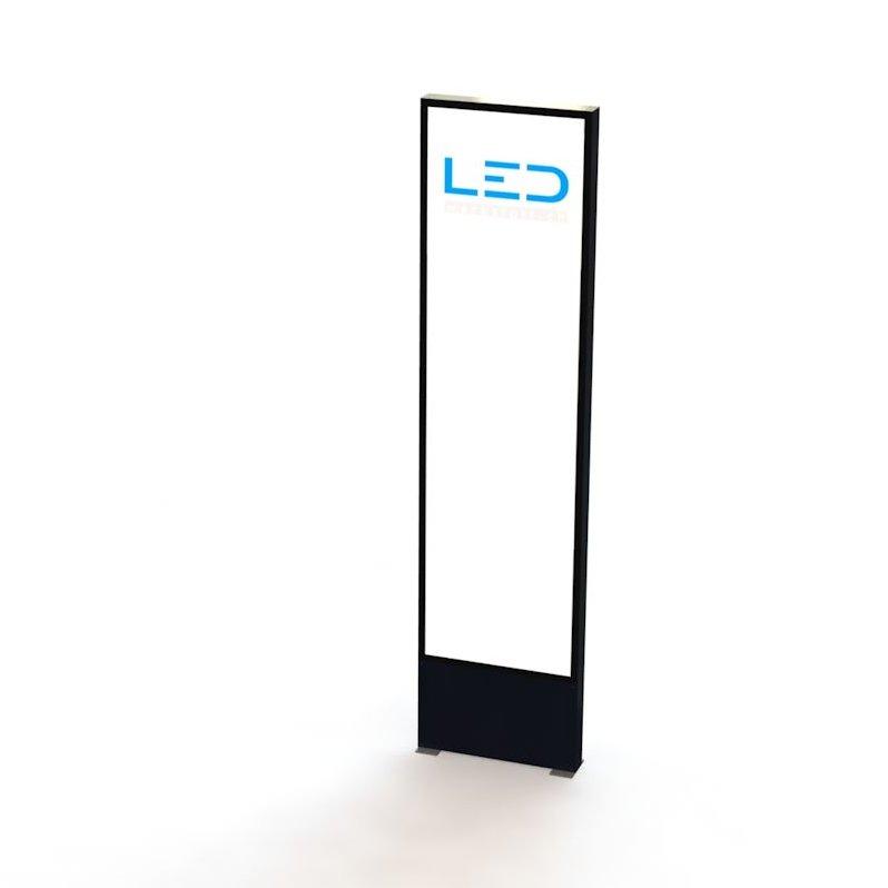 Panneau publicitaire, Totem publicitaire, Leuchtreklame, Leuchtwerbung, LED-Pylonen, LED-Stelen, für Gewerbeparks, Firmenbesriftung