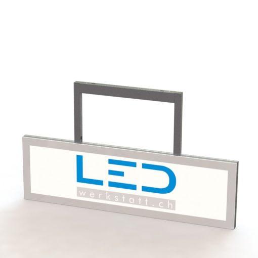 SA-15011 Abhängeschild RAL9003 LED Leuchtreklame LED Leuchtwerbung
