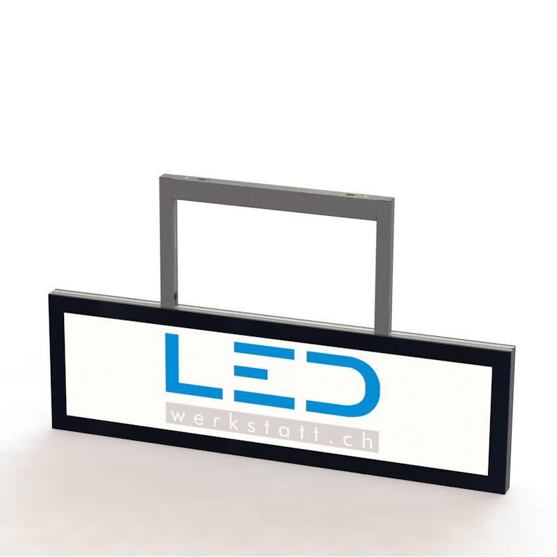 SA-15011 Abhängeschild RAL9005 LED Leuchtreklame, LED Leuchtwerbung