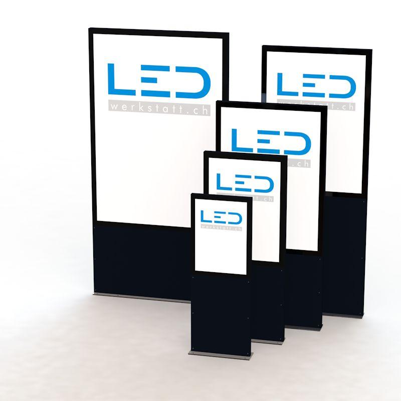Stelen und Pylonen, Leuchtkasten, Stele, LED Leuchtwerbung, Leuchtreklame, Pylon, Leuchtpylone, Werbepylone, Werbestele, Leuchtstele