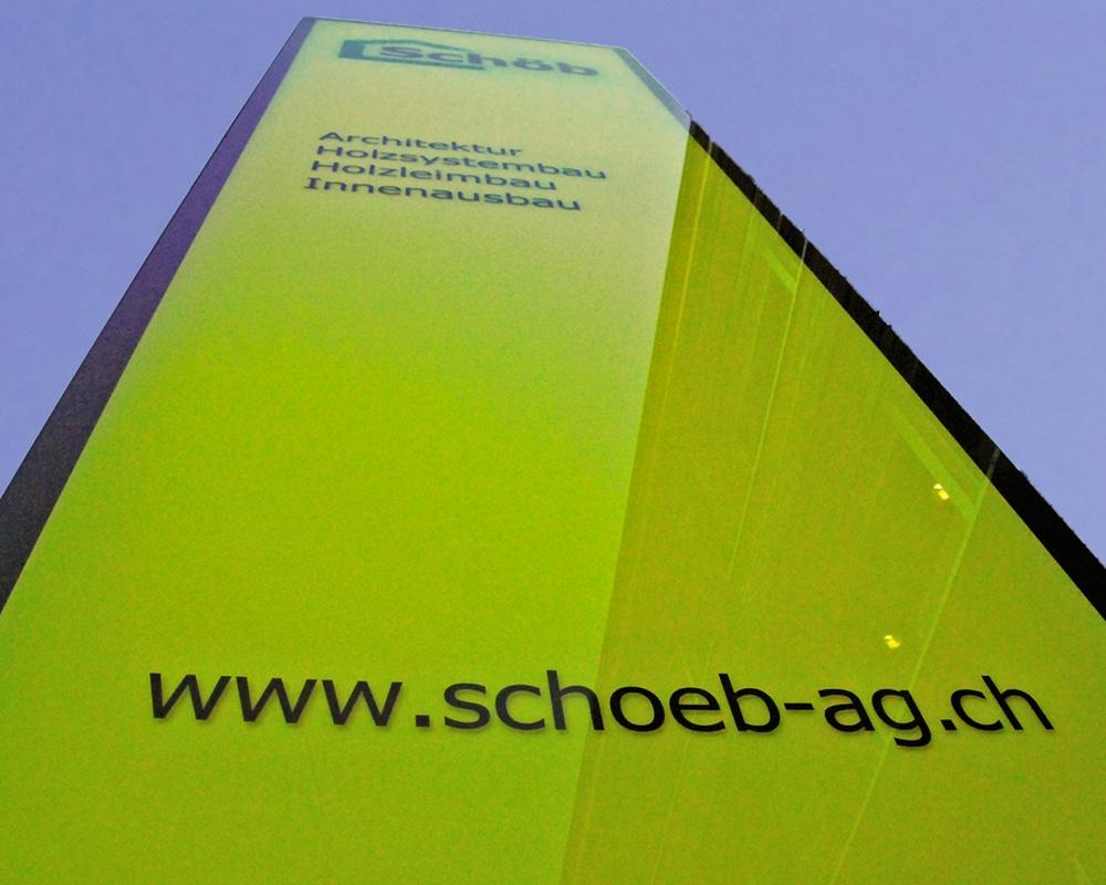 LED Leuchtwerbung Schöb AG, Totem Publicitaire, Stele, Pylone, Panneaux