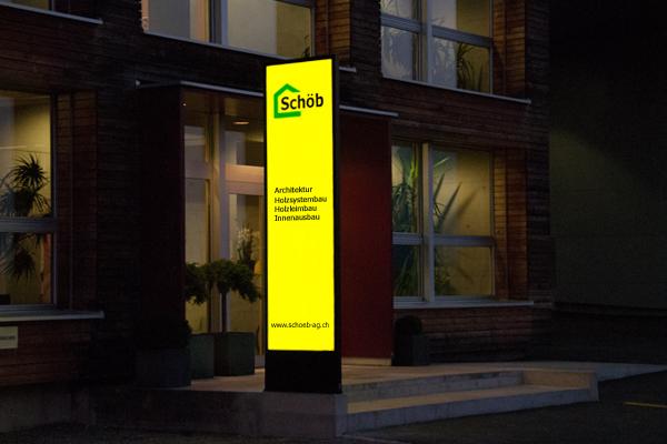 Totem Publicitaire, Stele, LED Leuchtpylone, Panneaux, LED Leuchtwerbung, Leuchtreklame
