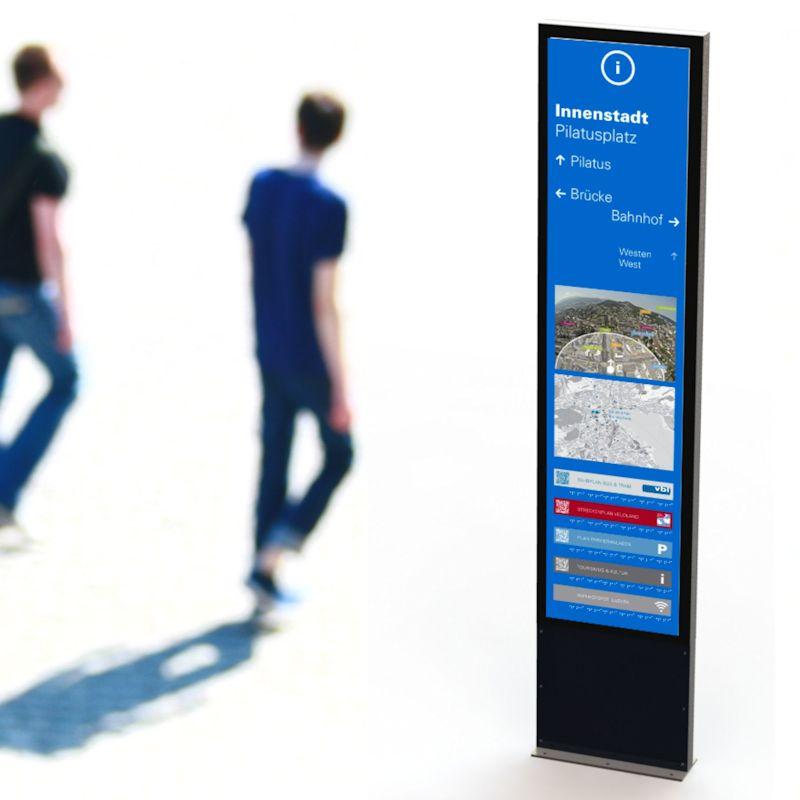 City-Leitsystem für Passanten in der Innenstadt