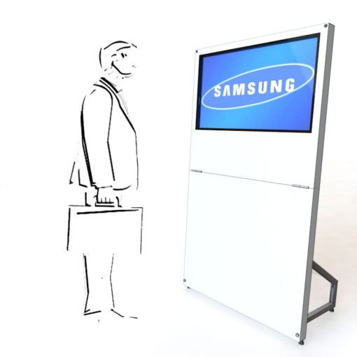 MobyTouch Monitorstele 40', mobil Digital Signage, mobile Präsentation