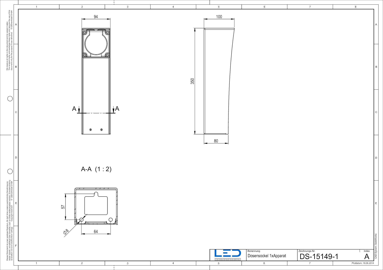 Steckdosensäule ESOCKET350, Steckdosensokel, Steckdosensäule, socles de prises, prises colonne, socket pedestals, sockets column